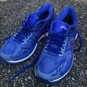 Women's ASICS T750N running shoes sz 8 blue purple